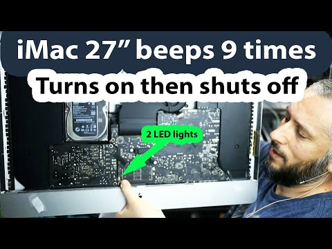 "iMac 27"" Fan spins 9 beeps and shuts back off. Let's fix this."