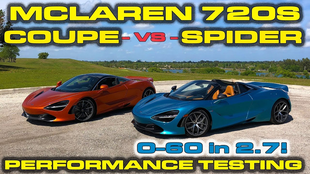 SPIDER BEATS COUPE? * McLaren 720S Spider Vs Coupe