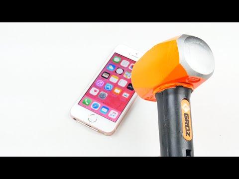 iPhone SE Hammer & Knife Scratch Test!