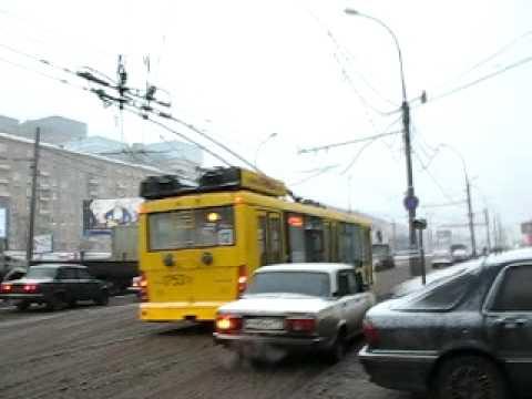 russian trolleybus trolza megapolis in moscow Т�оллейб