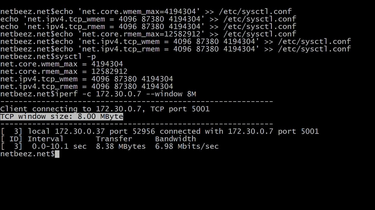 How to Adjust the TCP Window Size Limit on Linux