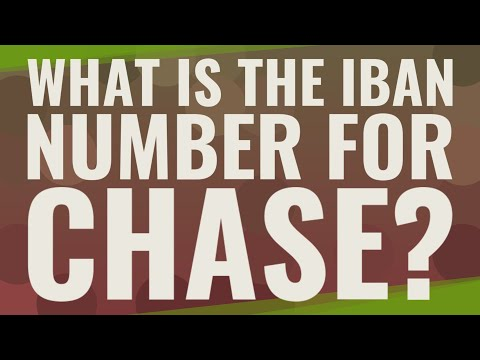 What Is The IBAN Number For Chase?