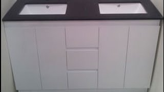 Buy Bathroom Caesarstone Vanity In Melbourne [black-1200,1500 Or 1800 Mm]