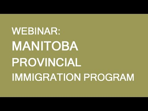 Free webinar: Manitoba Provincial Nominee Program