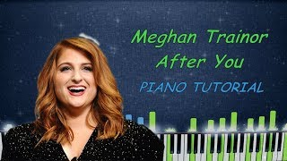 Meghan Trainor - After you Piano Cover Tutorial Karaoke Instrumental Remix Sheets