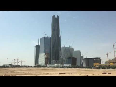 The King Abdullah Financial District (KAFD) is a new development under construction, Riyadh KSA