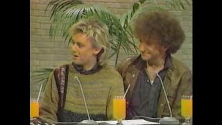 Roger Taylor & John Deacon (Tokio Rock TV, March 1984) - The Works Promotion