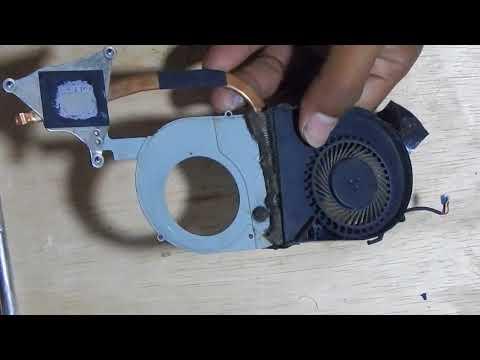 How to Clean the heatsink of Aspire V5 471