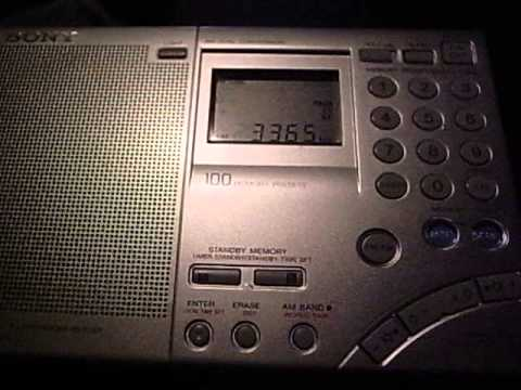 "3365kHz NBC National Radio ""Voice of PNG"" All night transmitting"