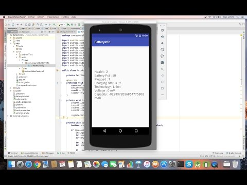 Learn to get Battery Info programmatically on Android - YouTube