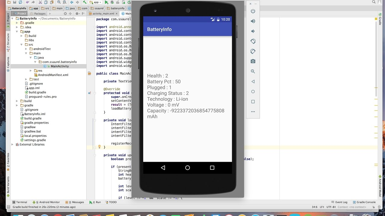 Learn to get Battery Info programmatically on Android
