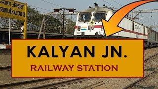 KYN, Kalyan Junction railway station, India in 4K Ultra HD