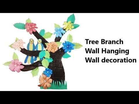 Diy Wall Decoration Tree Branches | Tree Branch Wall Hanging Wall decoration | Room decoration