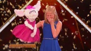 [English-Vietsub] Darci Lynne 12 tuổi hát tiếng bụng cực đỉnh & nhận nút vàng: America's Got Talent