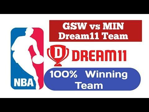 GSW vs MIN Dream 11 NBA Team   Golden State Warriors vs Minnesota Timberwolves   MIN vs GSW NBA Team