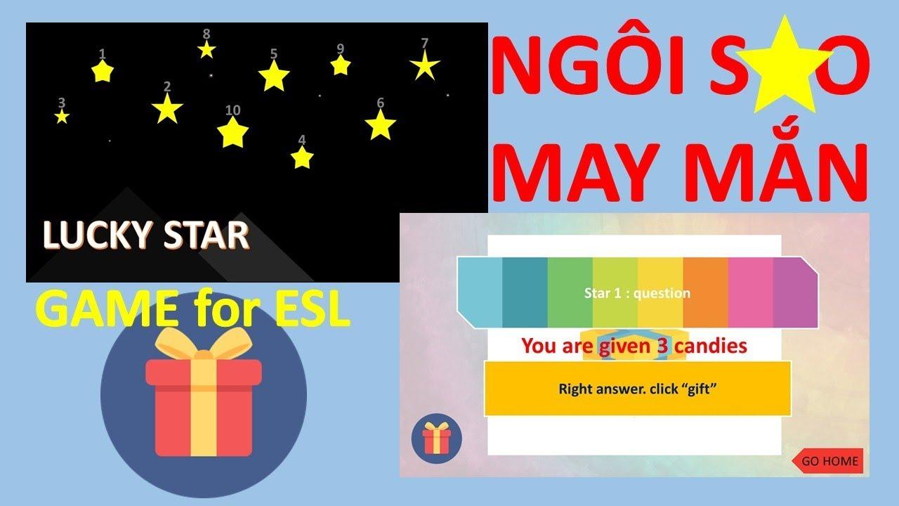 Trò Chơi PowerPoint Ngôi sao may mắn   Lucky star PowerPoint Game   TRỢ GIẢNG