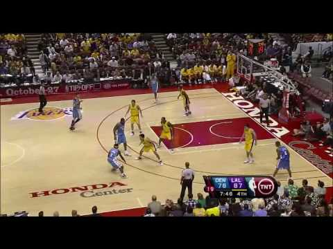 Nuggets Ty Lawson 3 highlights 10 22 09 Preseason