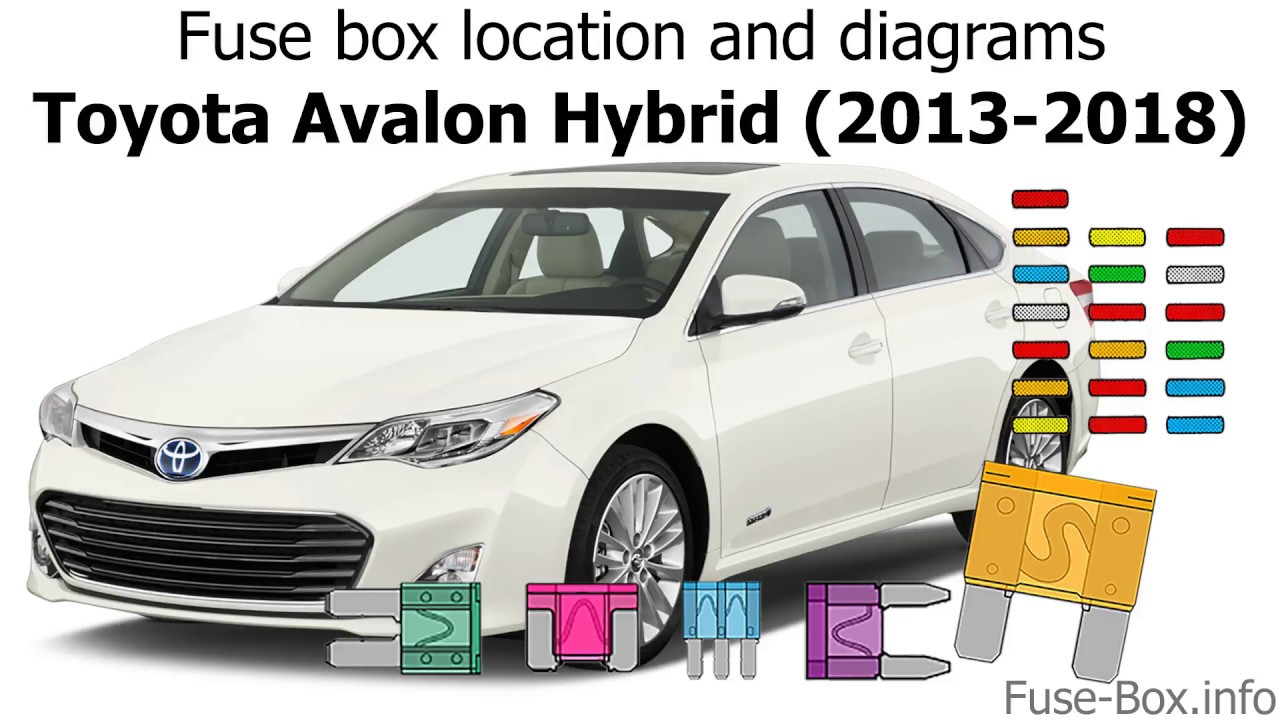 fuse box location and diagrams: toyota avalon hybrid (2013-2018) - youtube  youtube