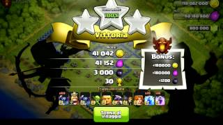 Clash of clans attacco con 80 PEKKA AL 6