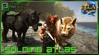 NEW ISLAND - WE HAVE NEW FRIENDS! LION AND HORSE TAMING! Soloing Atlas 17