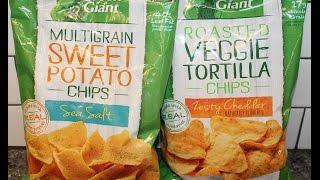 Green Giant: Sea Salt Sweet Potato Chips & Zesty Cheddar Veggie Tortilla Chips Review