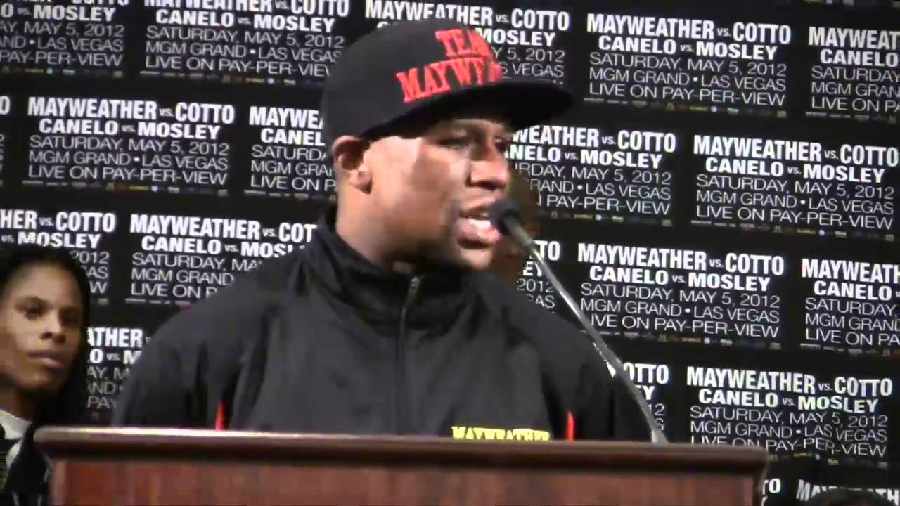 Floyd Mayweather after Cotto fight - YouTube