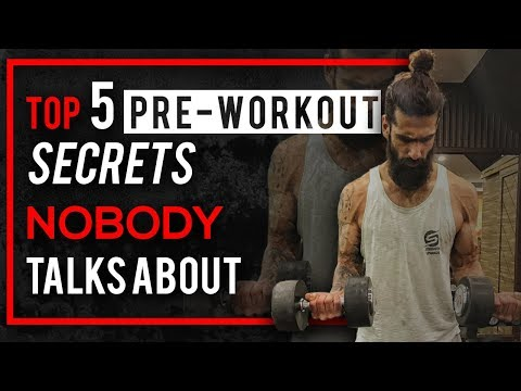 Top 5 PRE WORKOUT Secrets To INCREASE ENERGY and STAMINA IN GYM