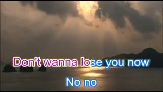 Backstreet boys Don't wanna lose you now karaoke