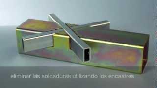 Repeat youtube video Tubos en acero | estructura innovadora con encastres