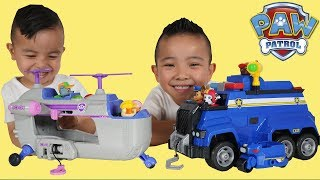 Paw Patrol Ultimate Rescue Toys Police Car and Helicopter Unboxing Fun With CKN
