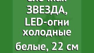 Верхушка ёлочная ЗВЕЗДА, LED-огни холодные белые, 22 см (KAEMINGK) обзор 495203