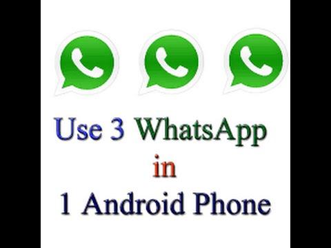 How To Use Three 3 Whatsapp In One Smart Phone Urdu/hindi 2016 Full Hd