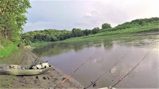 Catching GIANTS out of a Muddy River!! (Surprise find and BIG FISH)