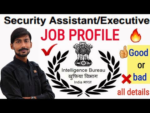 INTELLIGENCE BUREAU – EXECUTIVE / SECURITY ASSISTANT : JOB PROFILE