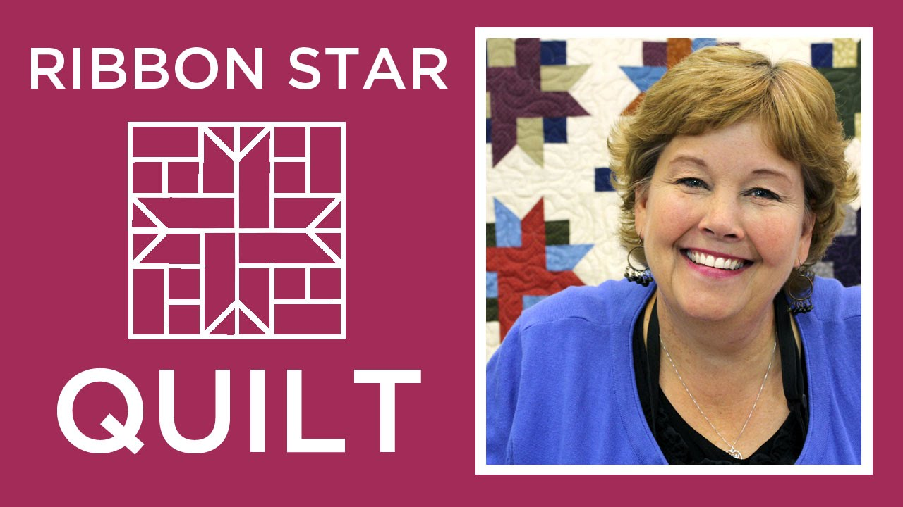 Make An Easy Ribbon Star Quilt With Jenny Youtube