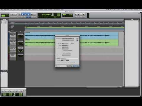 Pro Tools 11 New Bounce to Disk / Quicktime Tutorial