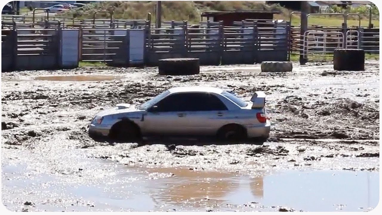 Subaru Impreza Attempts Mud Run Auto Tough Mudder Youtube