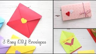 3 Easy DIY Envelopes