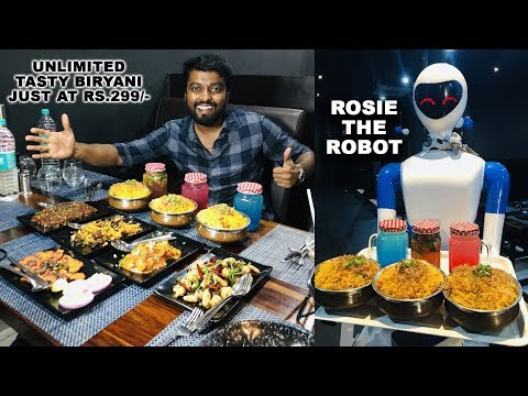 UNLIMITED !! BRIYANI - ROBOT THEMED RESTAURANT | PORUR CHENNAI