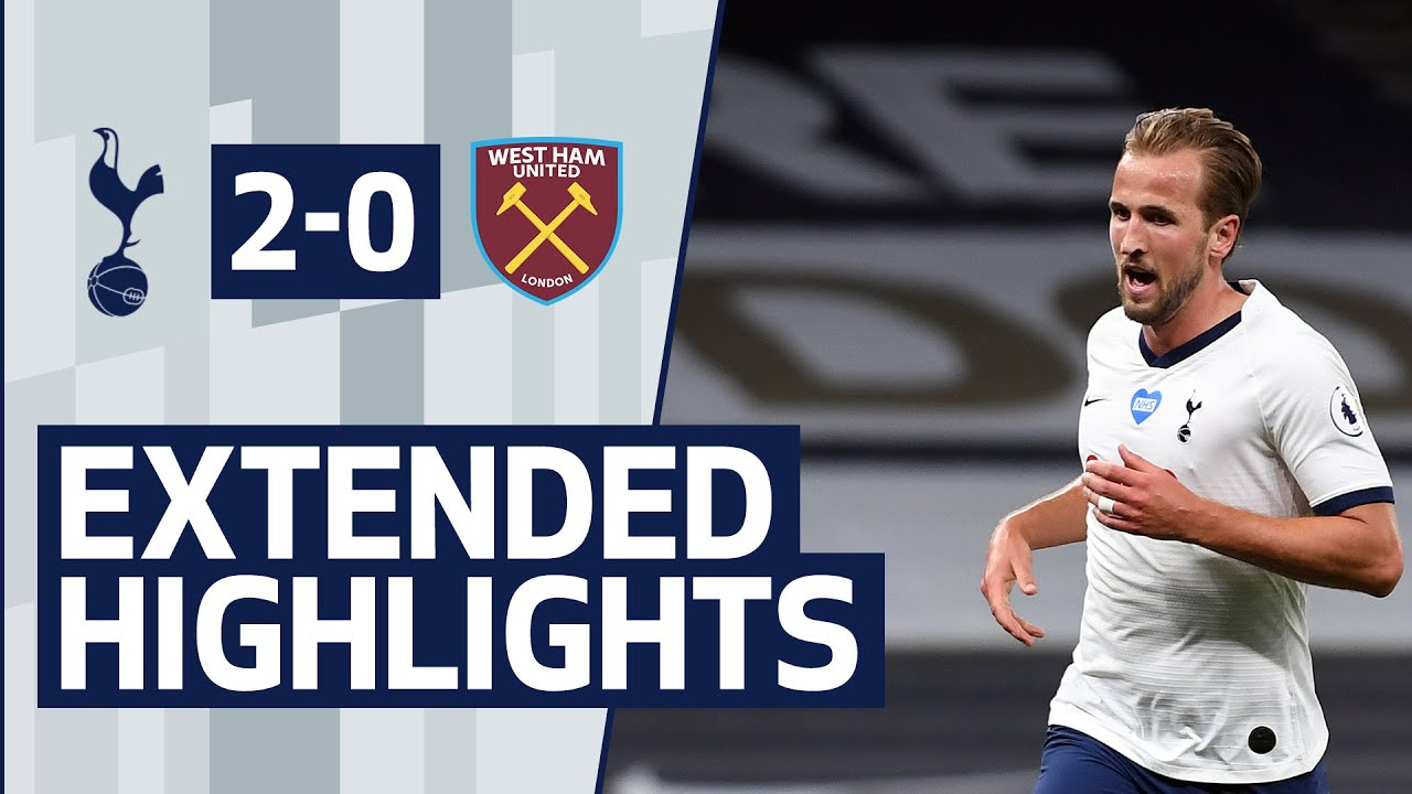EXTENDED HIGHLIGHTS   SPURS 2-0 WEST HAM UNITED - YouTube