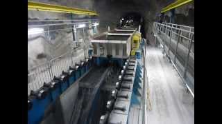 Repeat youtube video Continuous unloading on LKAB's new underground rail haulage level (1365m) in Kiruna
