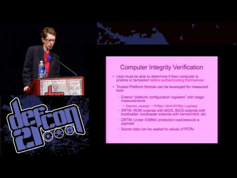 Defcon 21 - A Password is Not Enough: Why Disk Encryption is Broken and How We Might Fix It
