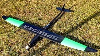 "400 Kmh 248 Mph F3S RC Speeder HJK Pilf X 1.1 an 8s 7"" x 12"" HJK Speedwings *1080p50fpsHD*"