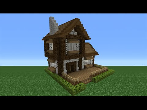 Minecraft Tutorial: How To Make A Wooden Cabin - 3 - YouTube