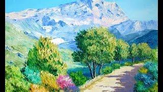мастер класс Рисуем горный пейзаж (полная версия )