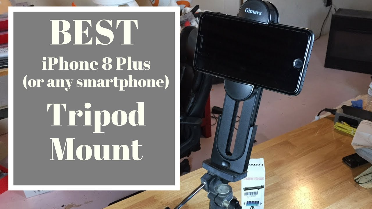 new product 986ca e21bf BEST iPhone 8 Plus/Smartphone/Tablet Tripod Adapter & Mount!