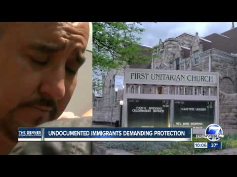 Undocumented immigrants demanding protection