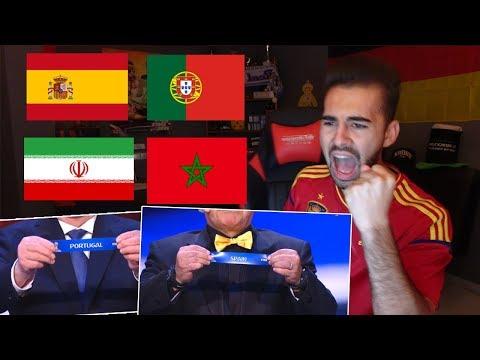 ESPAÑOL reacciona al sorteo del MUNDIAL RUSSIA 2018 | ESPAÑA PORTUGAL IRÁN Y MARRUECOS
