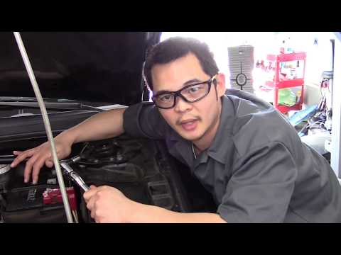 How to Remove and Replace a Battery. 2010 Mitsubishi Galant.