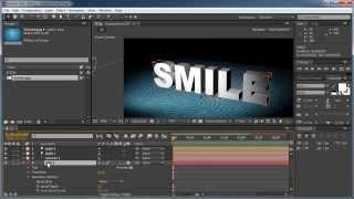 Как создавать 3D трехмерный текст Видеокурс After Effects урок 7